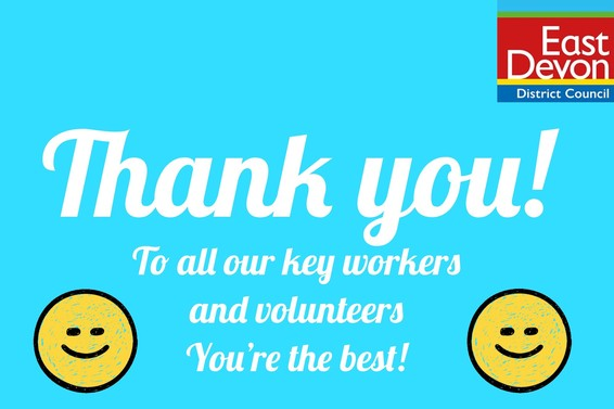 Thank you to volunteers and key workers