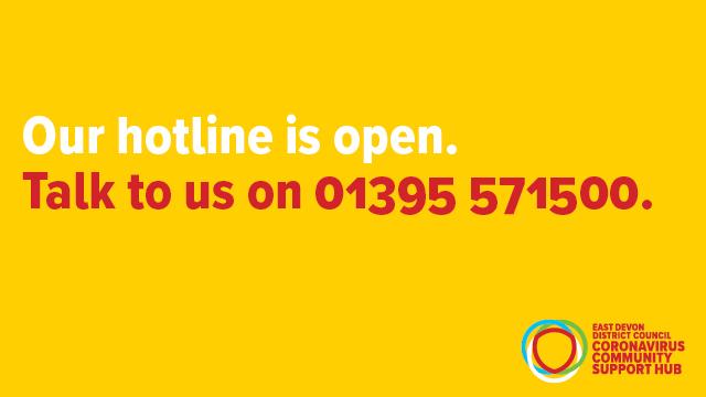 East Devon Coronavirus Community Support Hub Hotline