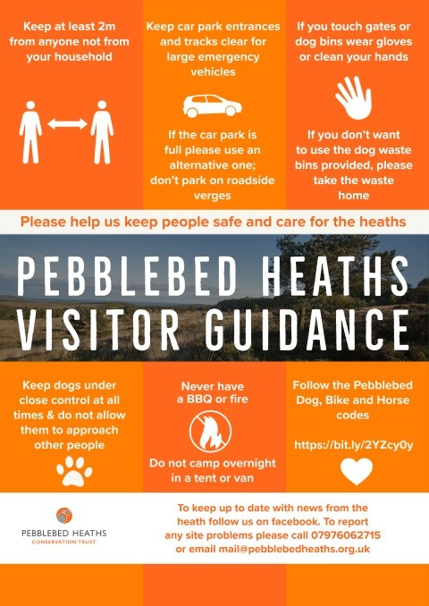 Pebblebed Heaths user guidance coronavirus