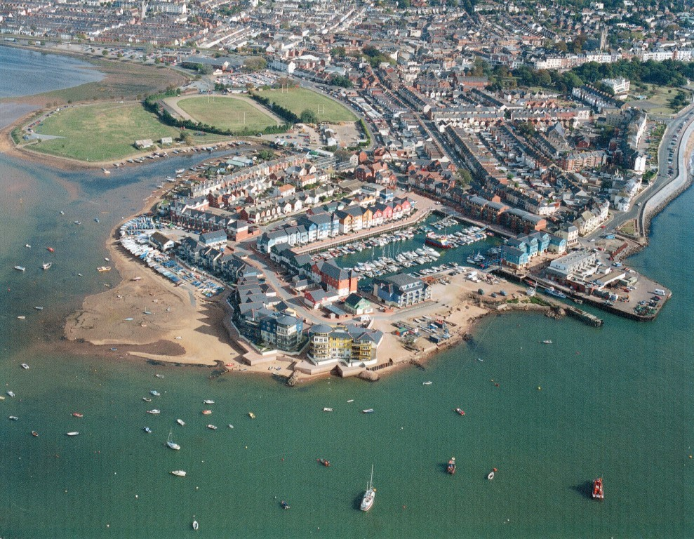 Exmouth marina from the air