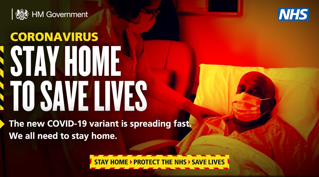 Stay at home and save lives