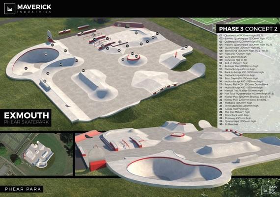 Exmouth skate park design 1