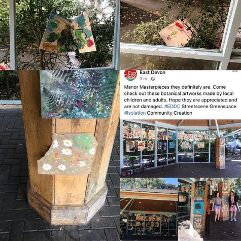 vandalised art at exmouth garden