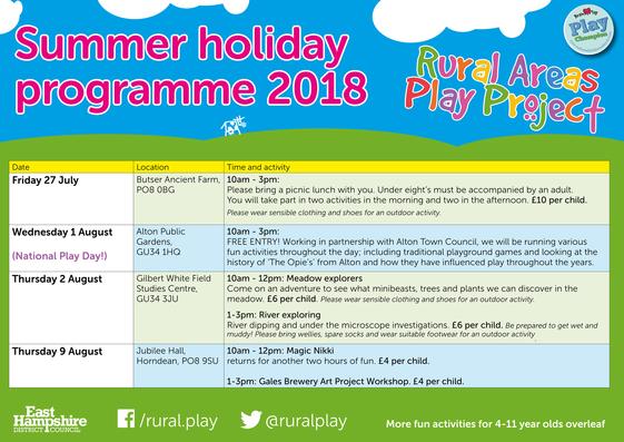 RAPP summer programme