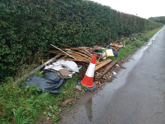 Woodhouse Lane fly-tip