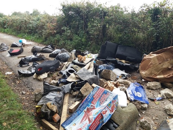Catherington fly tip 2