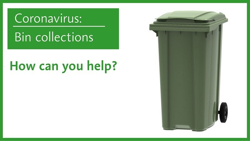 Bin collections - how you can help showing green waste bin