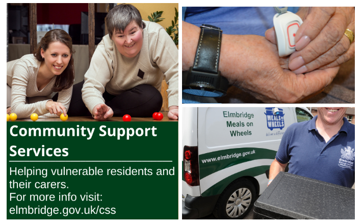 Community Support Services - helping vulnerable residents and their carers - carers, community alarm and meals on wheels