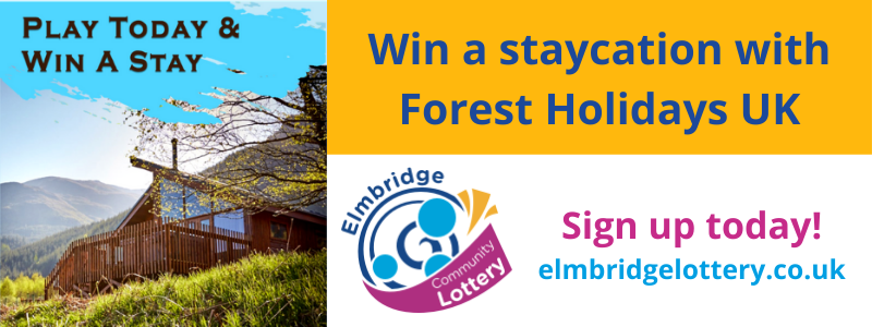 Win a staycation with Forest Holidays UK - play the Elmbridge lottery today