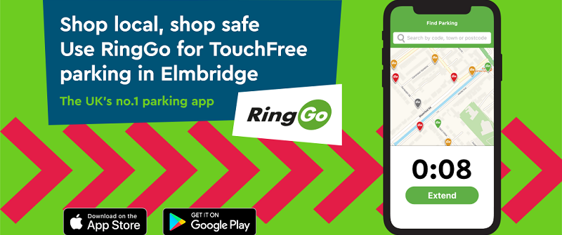 shop safe shop local use ringGo for touch free parking in Elmbridge