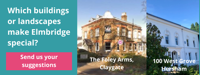 Which buildings or landscapes make Elmbridge special? - The Foley Arms, Claygate.  100 West Grove, Hersham.