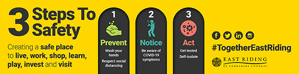 3 Steps to Safety - Prevent. Notice. Act.