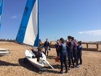 teaching on land- dinghy