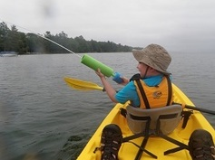 A person in a Kayak