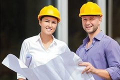 Apprentices on a construction site