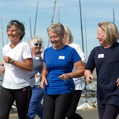 Older people running