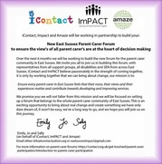 New Parent Carer Forum made up of iContact, ImPACT and AMAZE
