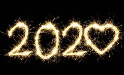 2020 written in fireworks.