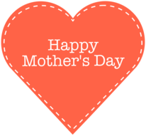 Mother's Day heart.