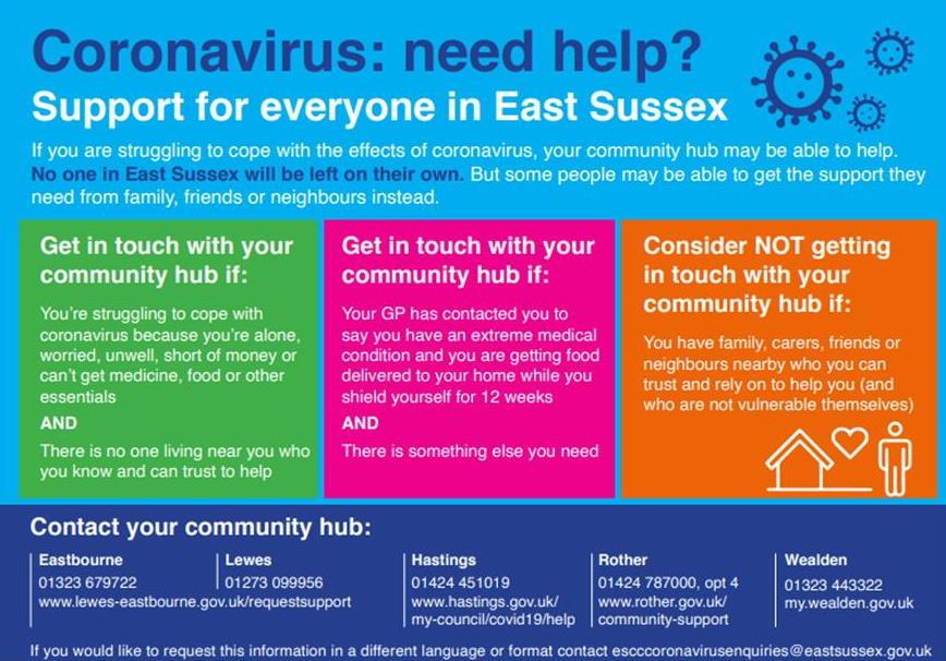 Coronavirus Community Hubs leaflet 2