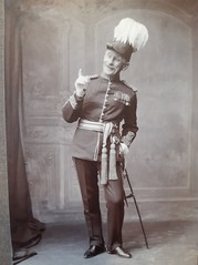 Photograph of Charles Patrick as Major General Stanley (AMS 7369/2/1) in the Lewes Operatic Society production of the Pirates of Penzance, 1912