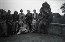 A family photograph with Winston and Clementine Churchill, Clare Sheridan is sitting on Churchill's right, ACC 8884/6/17/37