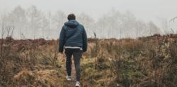 A man walking.