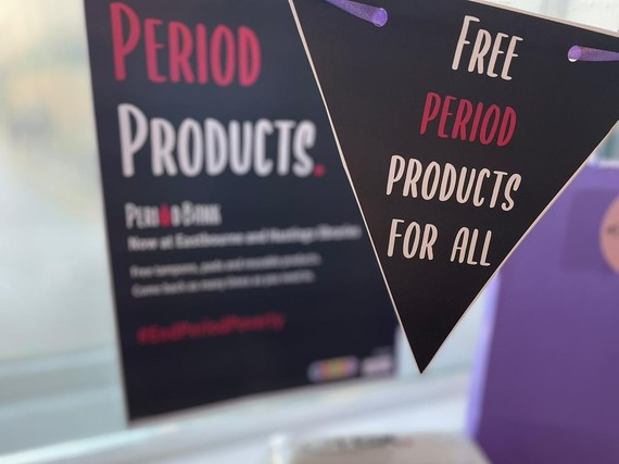 Help tackle period poverty with East Sussex libraries
