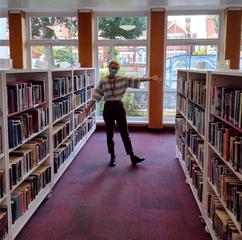 Eastbourne Library bookshelves