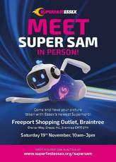 Super Sam poster about Braintree appearance
