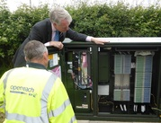 Openreach cabinet and engineer