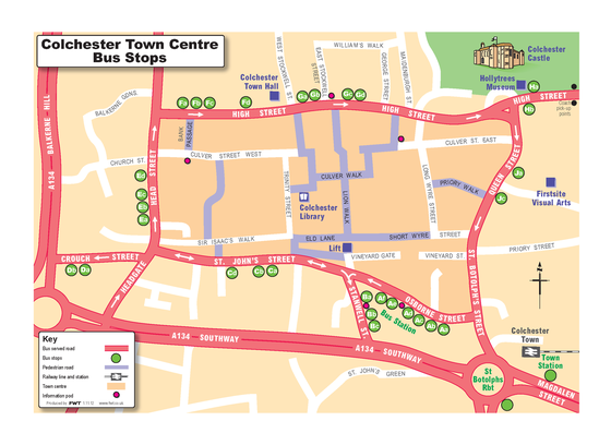 Colchester Town Map