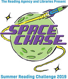 Space Chase illustrated logo