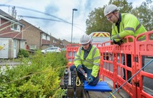 Openreach FTTP engineers at work