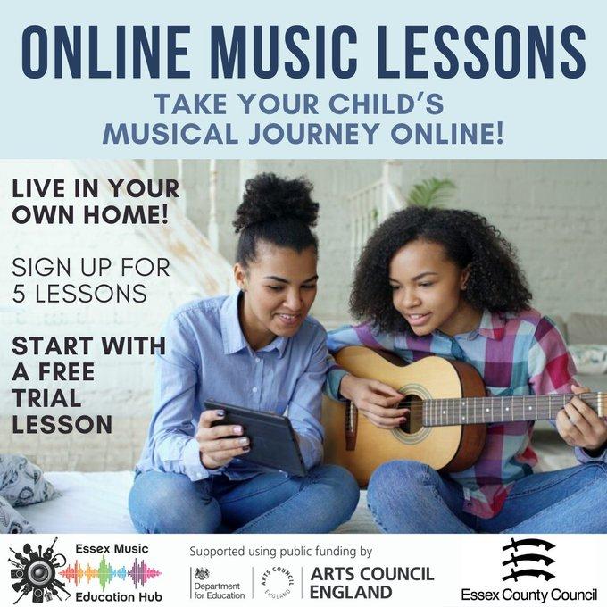 Online lessons advert