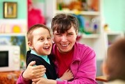 a young child with disabilities with his foster mother