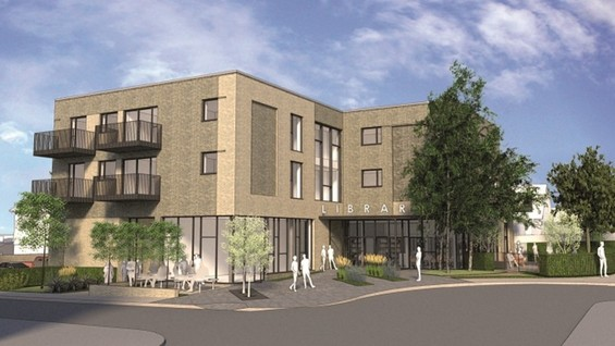 An image of the new Shenfield Library
