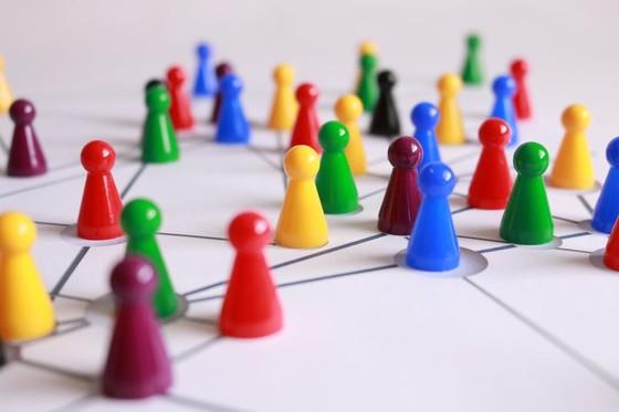 colourful pins