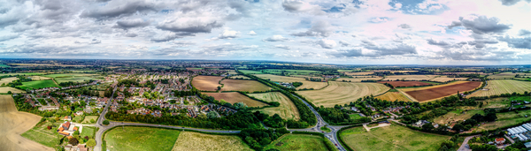Aerial view of Writtle Crop