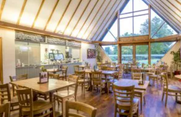 Inside the tea rooms at Cressing Temple Barns