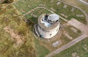 Aerial view of Jaywick Tower