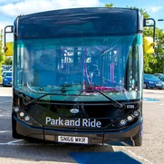The front of a park and ride bus in Chelmsford
