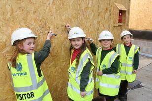pupils at ysgol glanrafon