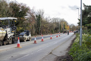 Histon Road construction Nov 2020
