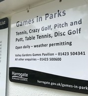 Games in Parks sign