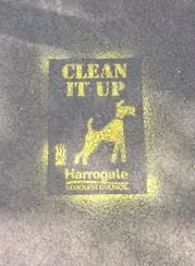 Dog poo stencil