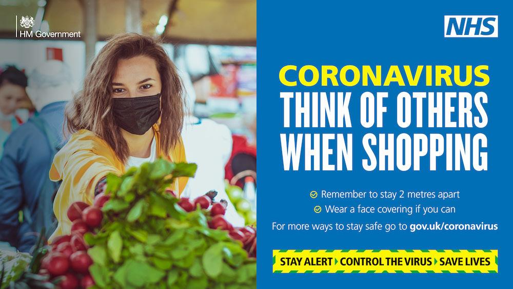 Coronavirus shopping message