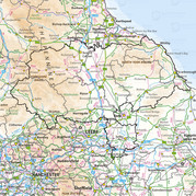 Map showing North Yorkshire