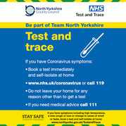Test and Trace North Yorkshire CC graphic