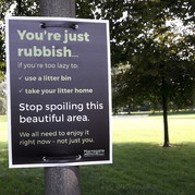 'You're Rubbish' sign